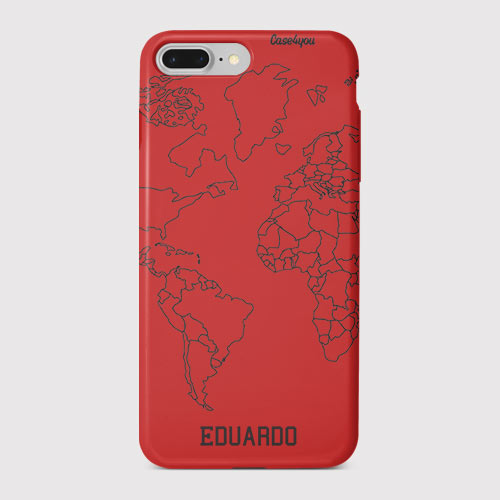 6c7cd247f Capa Case Colors Mapa Mundi Black